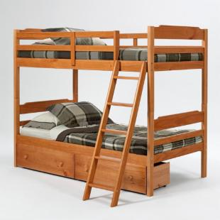 Kinsley Honey Twin over Twin Bunk Bed