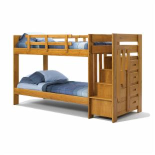 Heartland  Reversible Twin over Twin Stair Bunk Bed