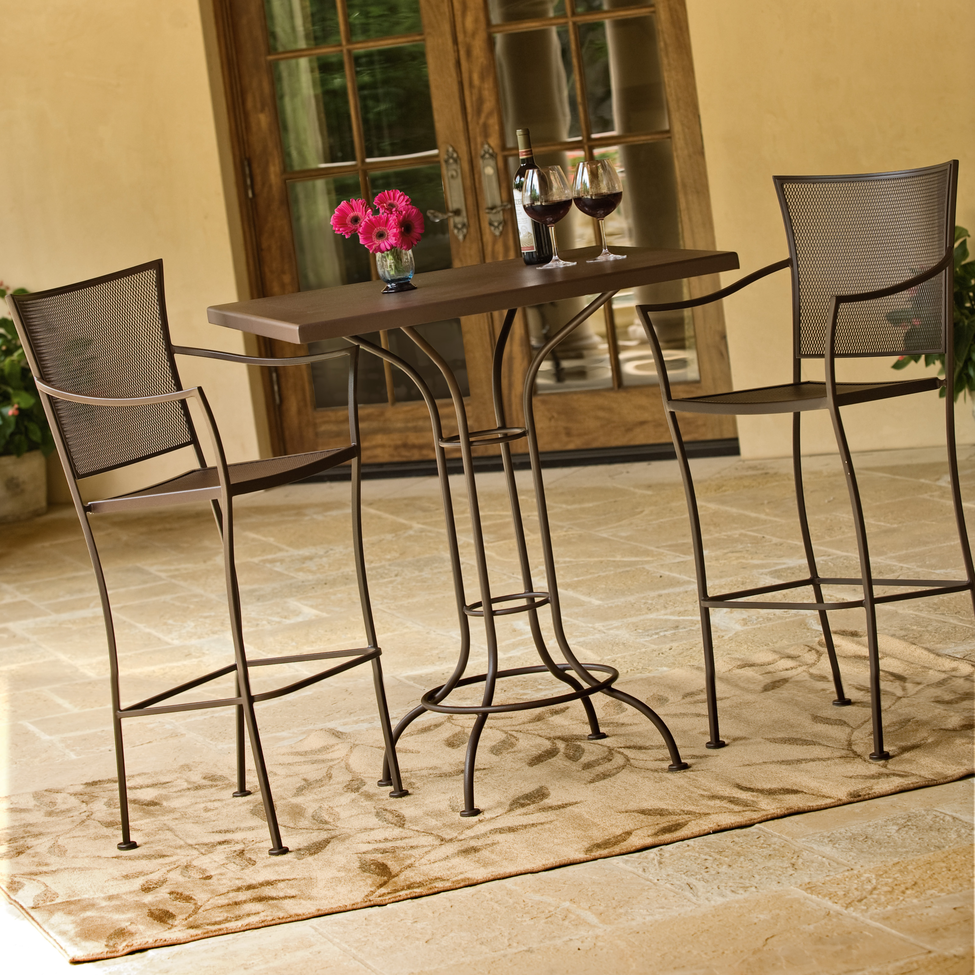 Woodard Amelie Bar Height Patio Dining Set Seats up to 4