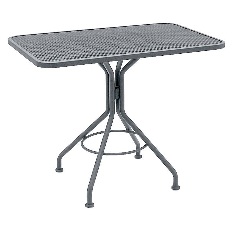 woodard commercial grade wrought iron patio dining table