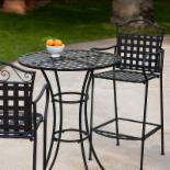 Woodard Capri Wrought Iron Bar Height Bistro Set