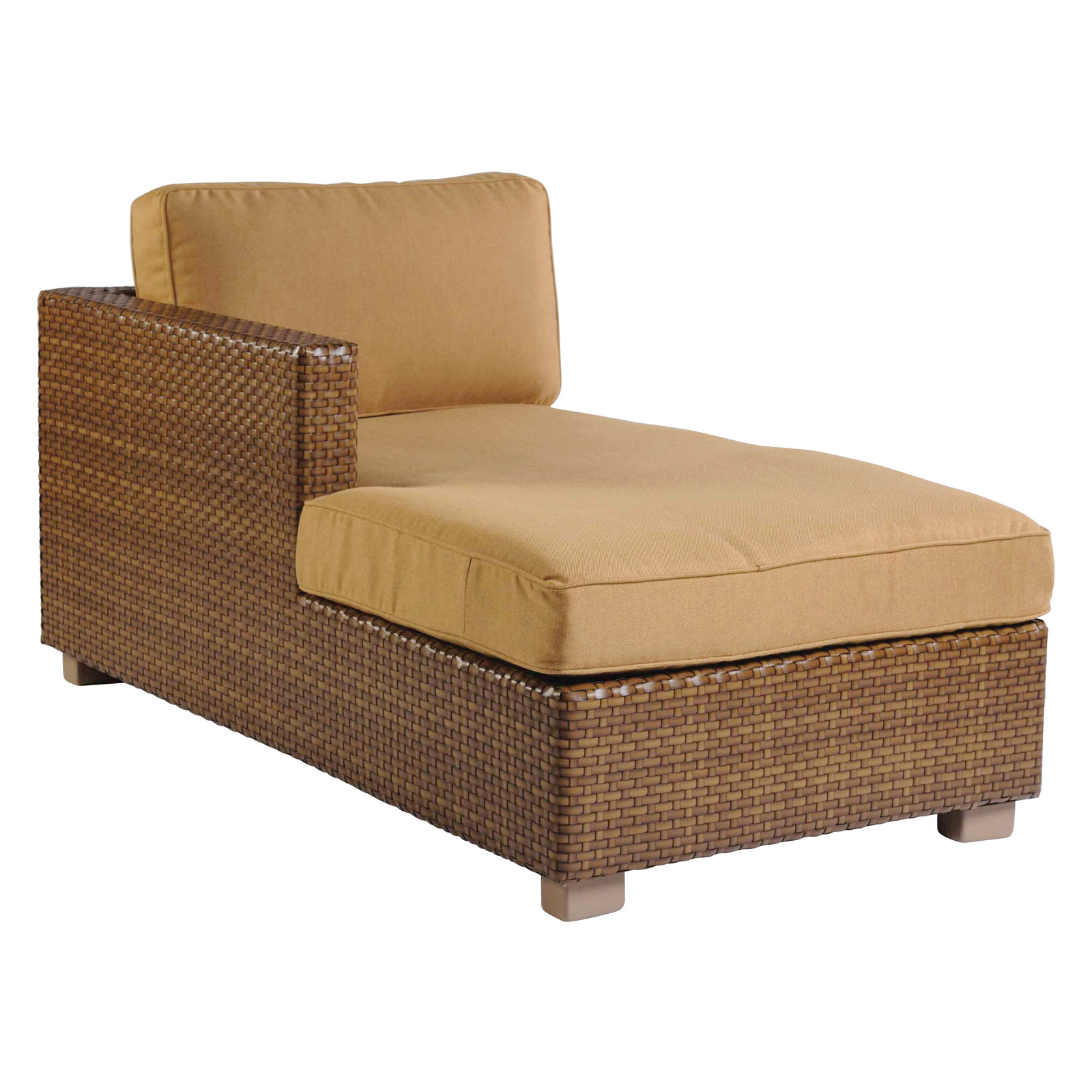 Whitecraft by woodard sedona left arm chaise lounge for Arm chaise lounge