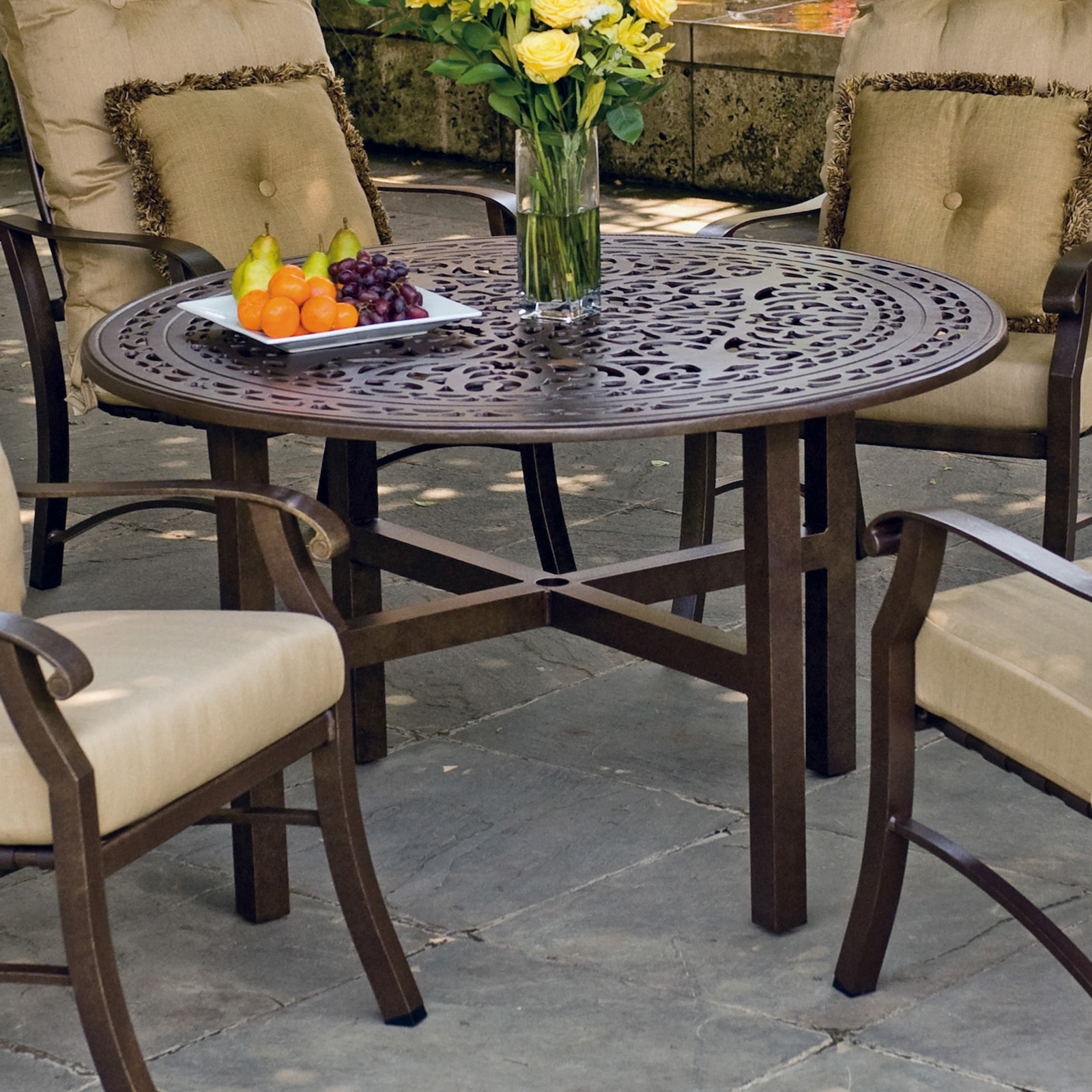 ... Vintage Counter Height Patio Dining Table - Patio Dining Tables at