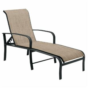 Woodard Fremont Sling Adjustable Chaise Lounge