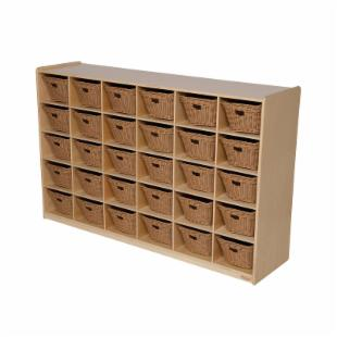 Wood Designs 30 Tray Storage with Baskets