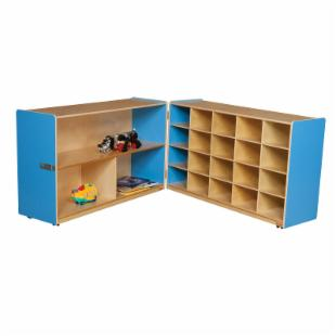 Wood Designs Half and Half Storage without Trays