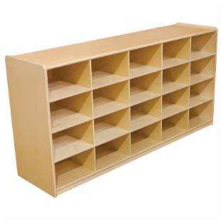 Wood Designs 20 Letter Tray Storage Unit without 5 in. Trays