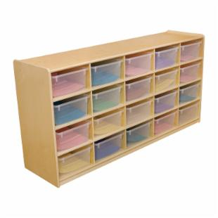 Wood Designs 20 Letter Tray Storage Unit with 5 in. Trays