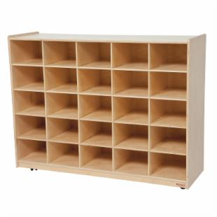 Wood Designs Natural 25 Tray Storage without Trays