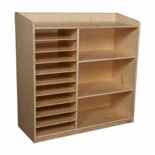 Wood Designs Sensorial Discovery Shelving without Trays