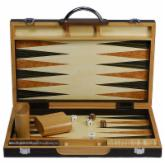 Black Zebra Wood Backgammon Set