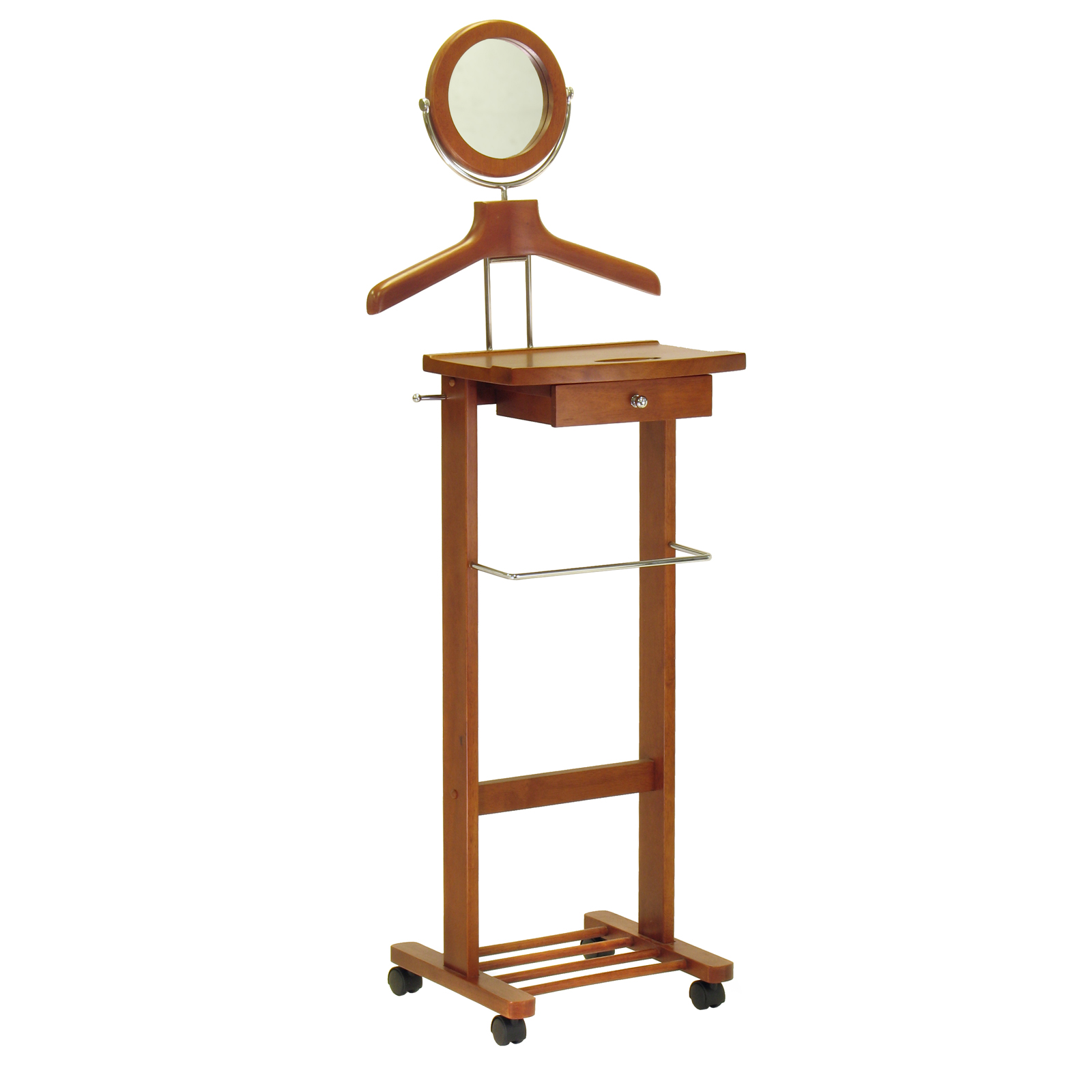 winsome jayden wooden valet stand and mirror clothes racks at hayneedle. Black Bedroom Furniture Sets. Home Design Ideas