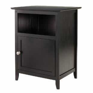 Winsome Black End Table with Storage Cube
