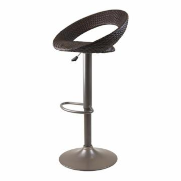 Winsome Bali Adjustable Airlift Bar Stool With Woven Seat