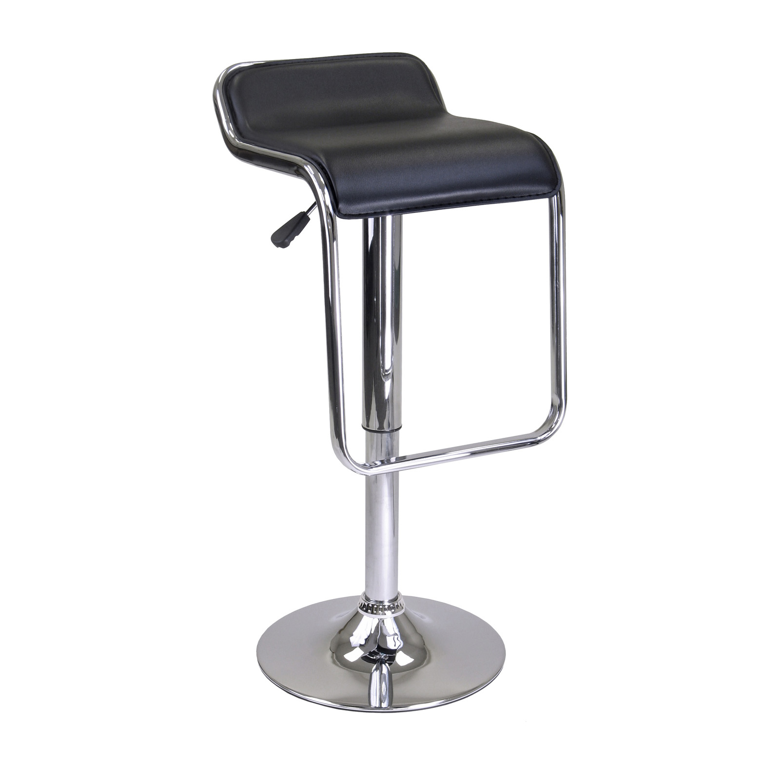 Winsome Oslo Air Lift Adjustable Backless Chrome Bar Stool