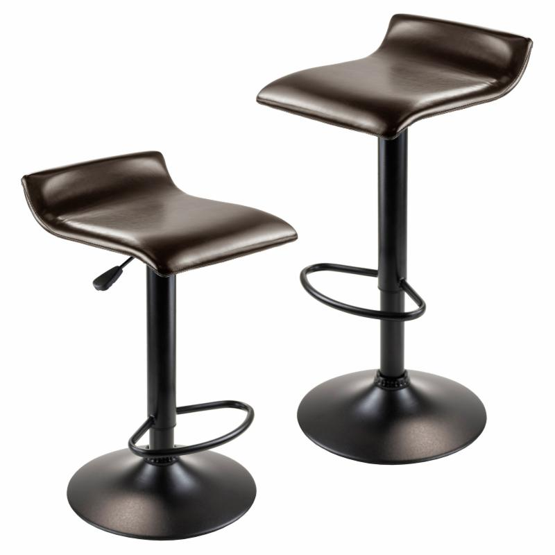 Winsome Adjustable Single Curve Back Air Lift Swivel Bar Stool