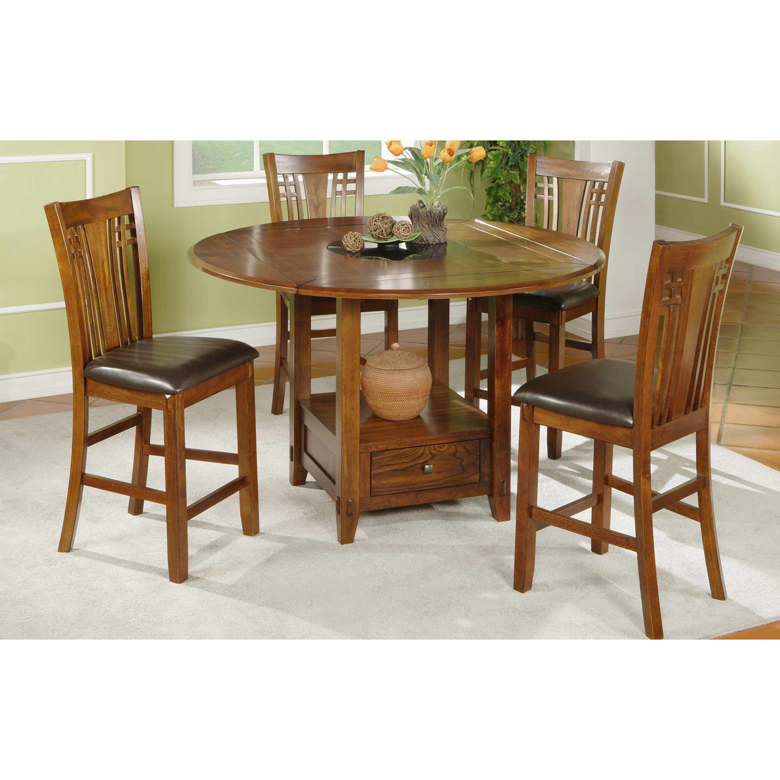 Winners Only Zahara 5 Piece Counter Height Dining Table Set With Granite Lazy