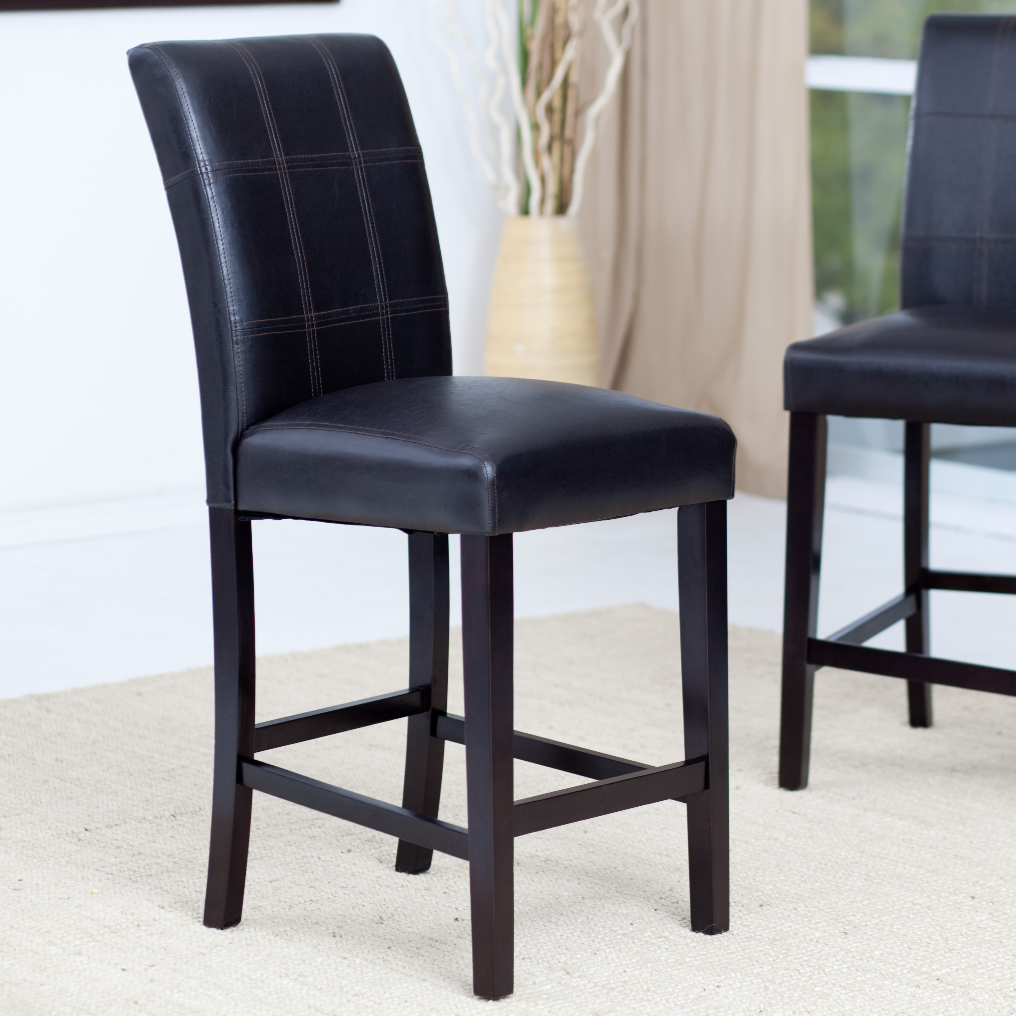 Palazzo 26 Inch Counter Stool Brown Set Of 2 Kitchen