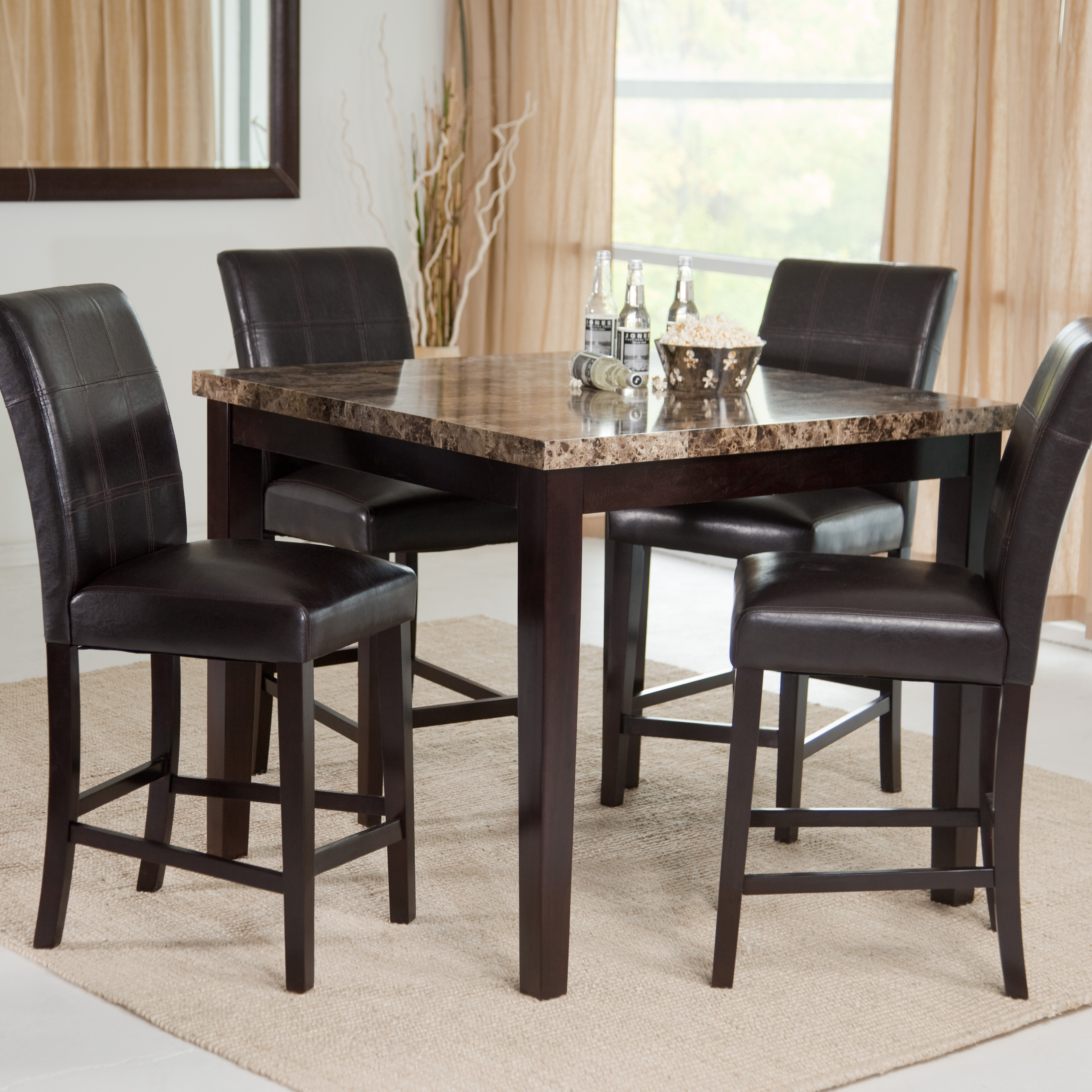 Palazzo 5 piece counter height dining set dining table for High dinner table set