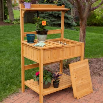  Gardener&#39;s Choice Fir Wood Potting Bench