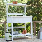  Gardener&#39;s Choice White Wash Potting Bench