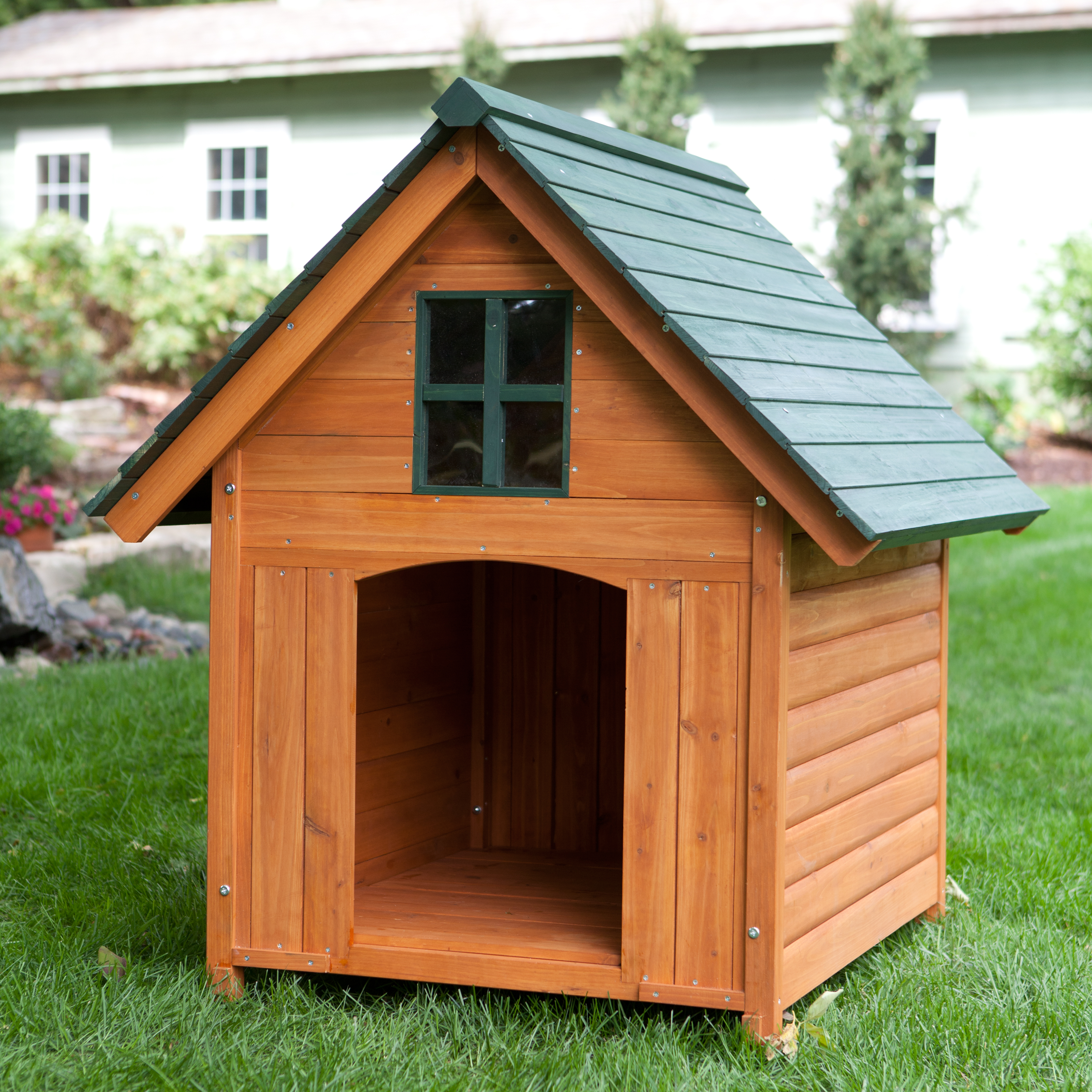 Boomer george t bone a frame dog house dog houses at for Large a frame