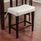  Avorio 26 Inch Saddle Counter Stool - Ivory