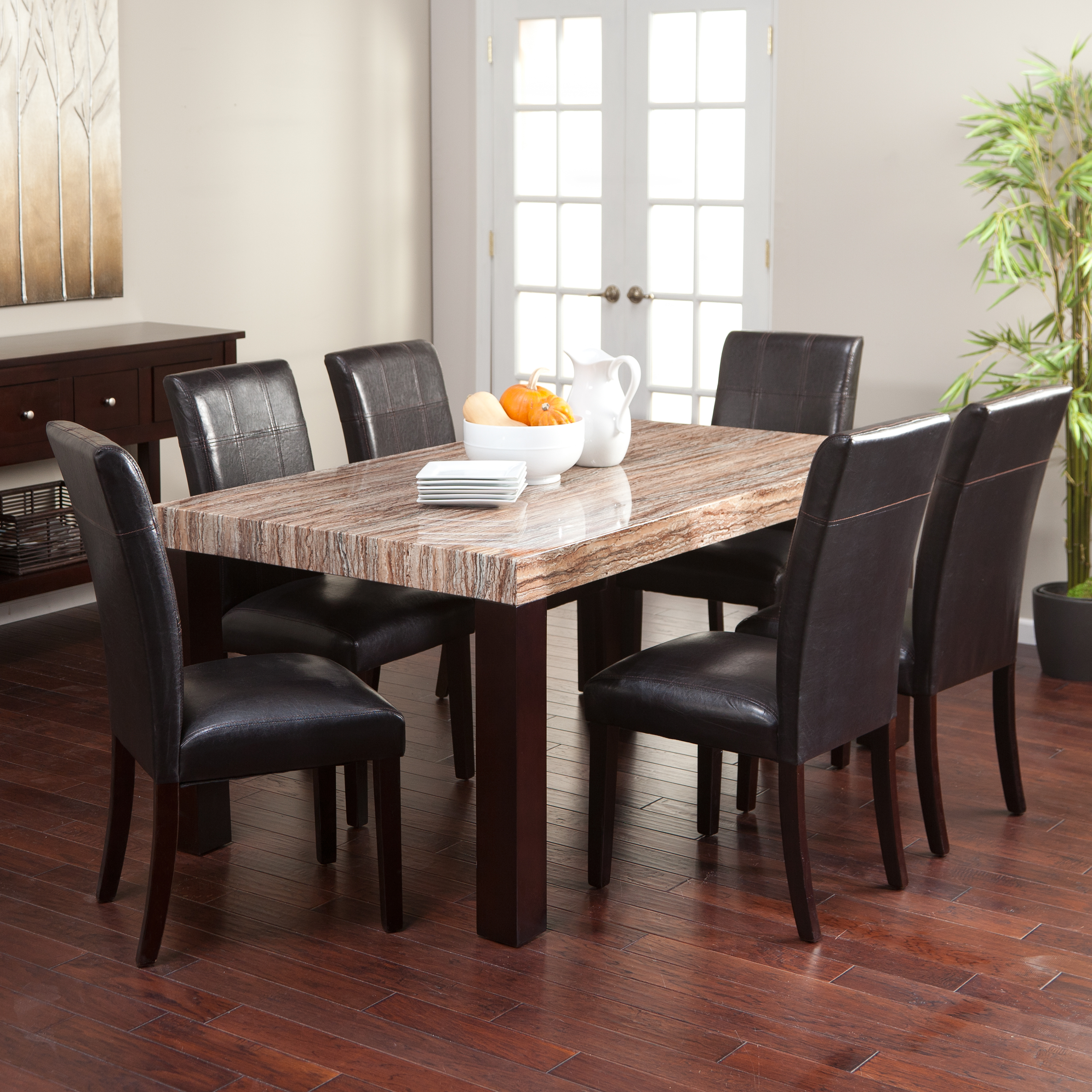 carmine 7 piece dining table set dining table sets at hayneedle. Black Bedroom Furniture Sets. Home Design Ideas
