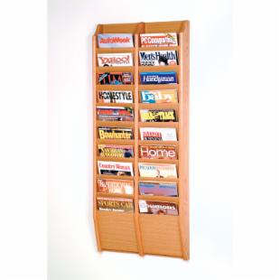 20-Pocket Wall Magazine Rack