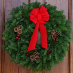 30 in. Fresh Balsam Pine Classic Wreath