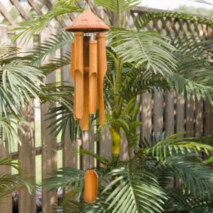 Asli Arts 35 Inch Woven Hat Wind Chime
