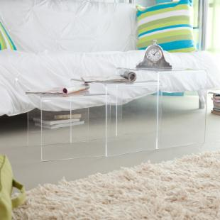 Wholesale Interiors Transparent Acrylic Nesting Tables
