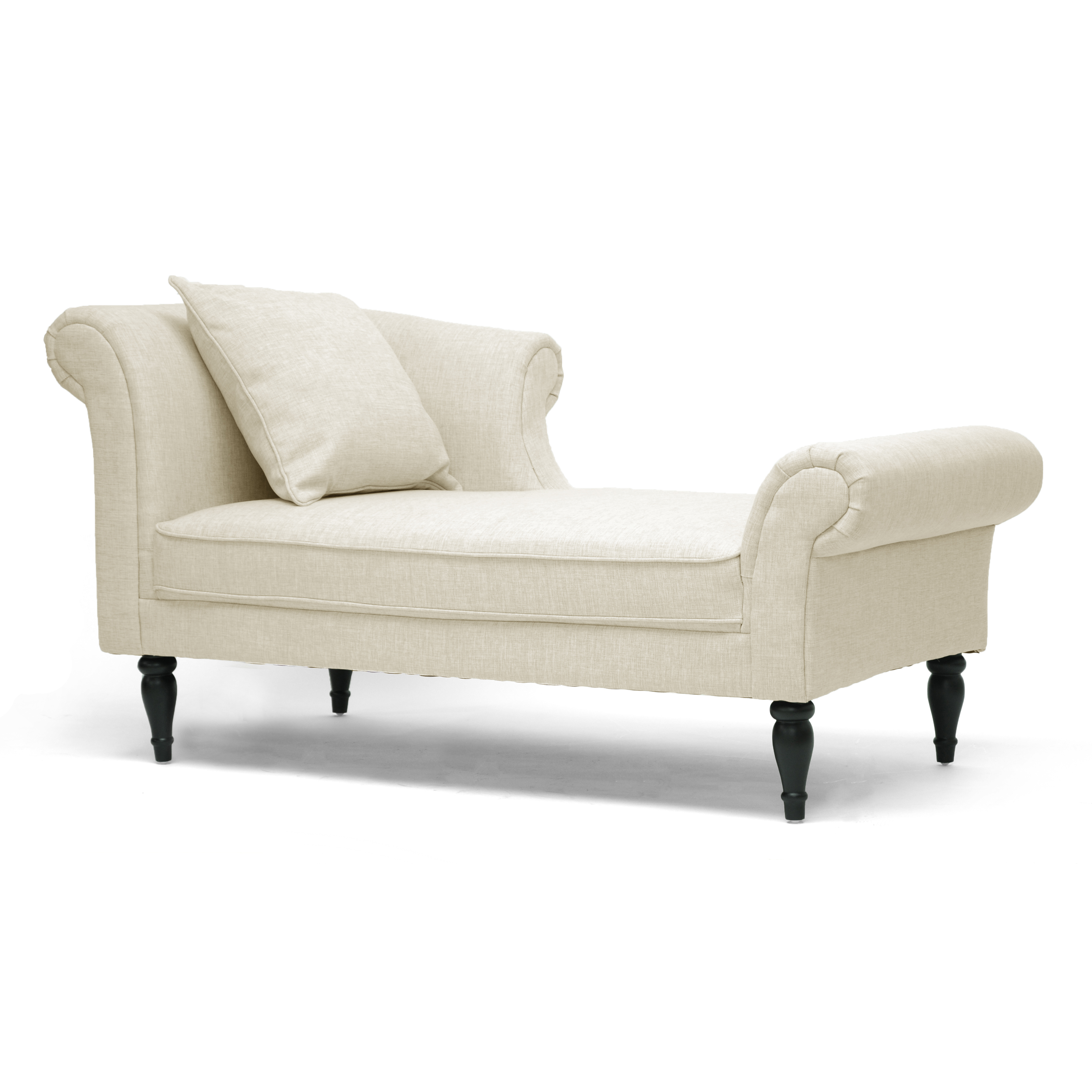 Baxton studios lucille victorian chaise indoor chaise for Chaise lounge couch