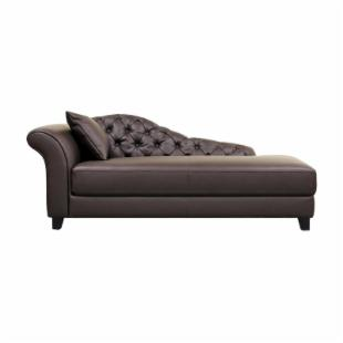 Contemporary Style Chaise Lounge - Brown