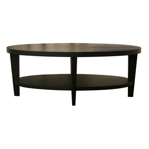 Baxton Studio Charleston Modern Wood Oval Coffee Table Black Coffee Tables At Hayneedle