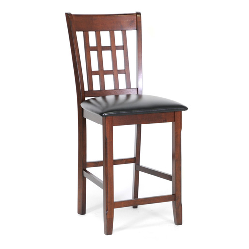 Baxton Studio Amber Wood Modern Counter Stool Brown