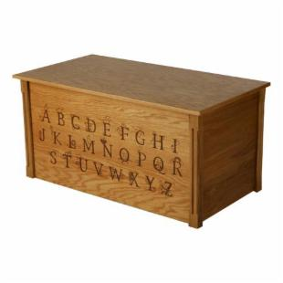 Wood Creations Amber Finish ABC Toy Box