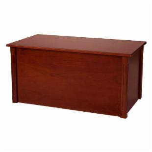 Wood Creations Dark Cherry Classic Toy or Blanket Chest