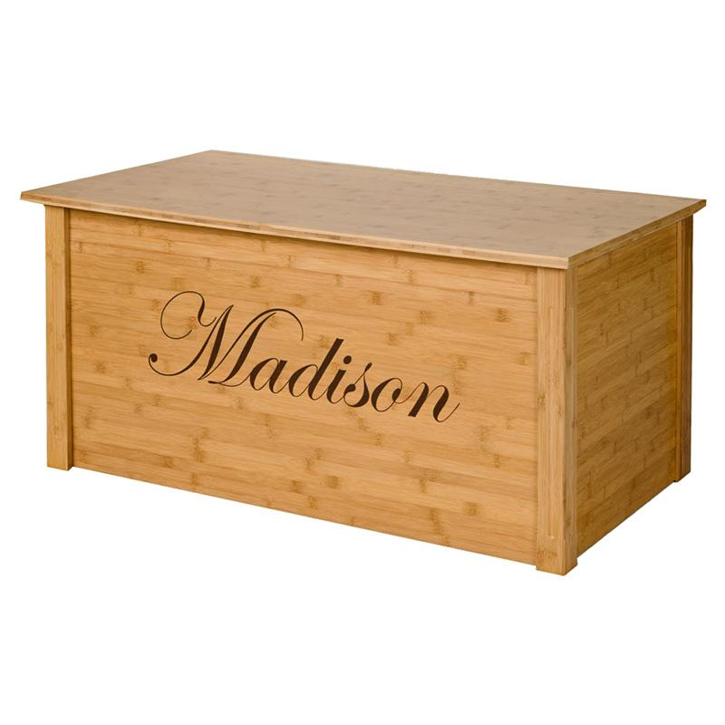 Wood Creations Bamboo Toy Chest with Personalization