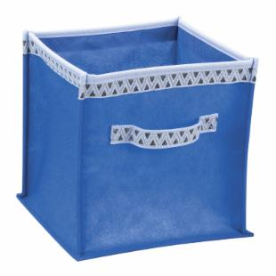 Decorative Twist Square Collapsible Storage Bin