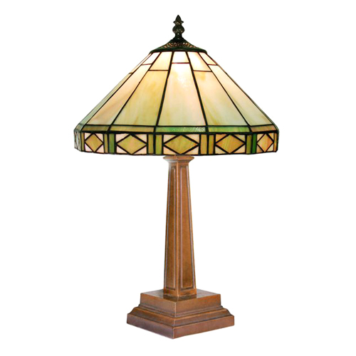 tiffany style round mission table lamp at hayneedle. Black Bedroom Furniture Sets. Home Design Ideas