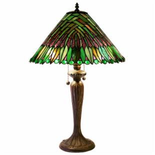 Tiffany Style Tropical Leaves Table Lamp - Tiffany Table Lamps at Tiffany Lamps Galore :  tiffany lamp dale lamps
