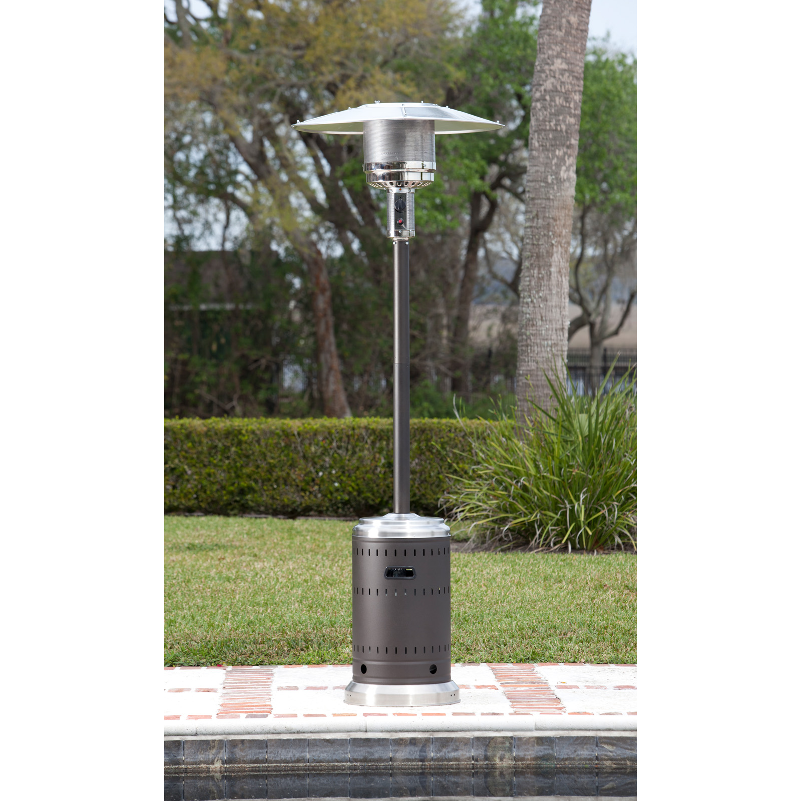 Fire Sense Mocha And Stainless Steel Commercial Patio
