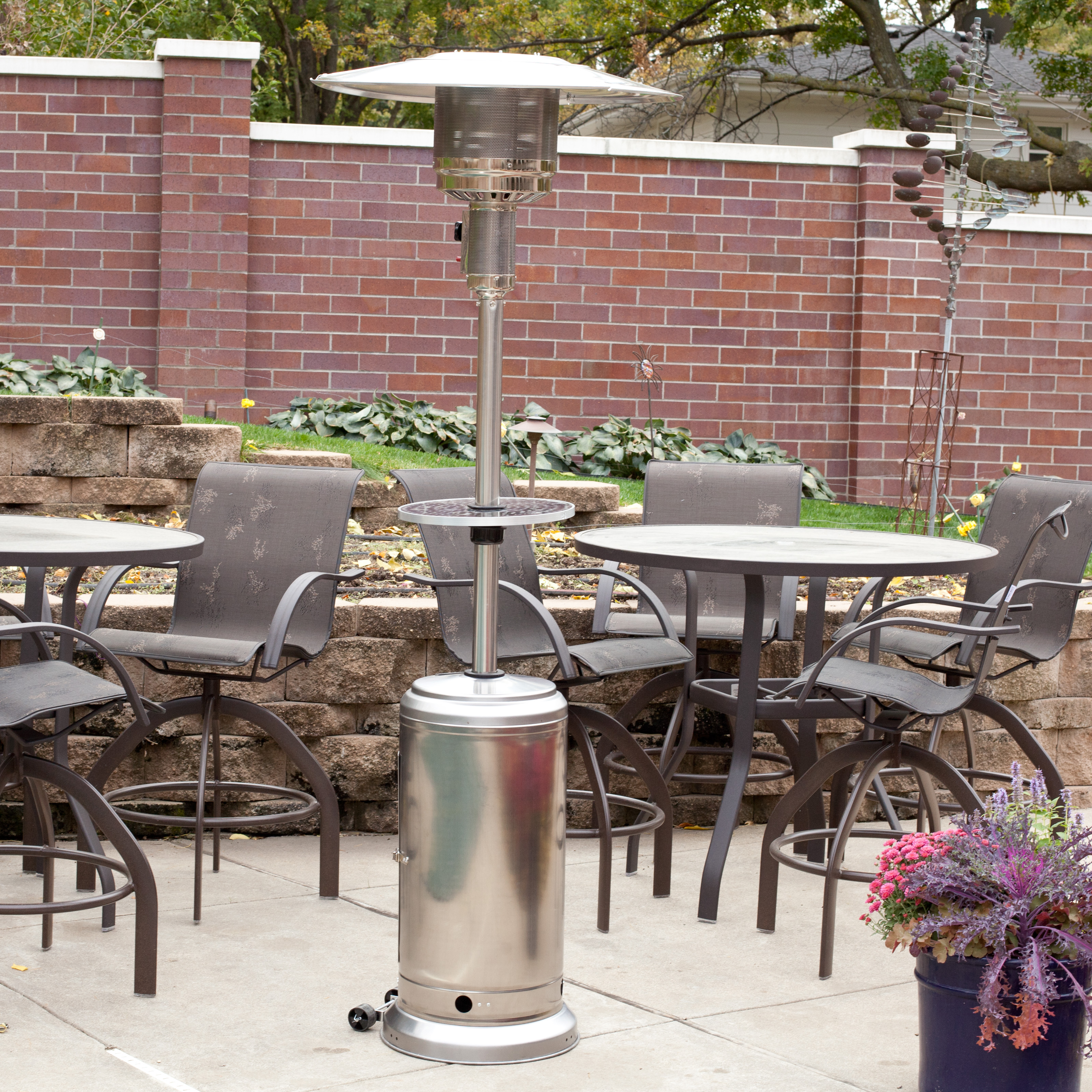 Fire Sense Stainless Steel Patio Heater With Adjustable