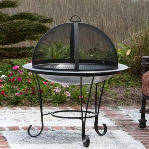 Fire Sense Stainless Steel Cocktail Fire Pit