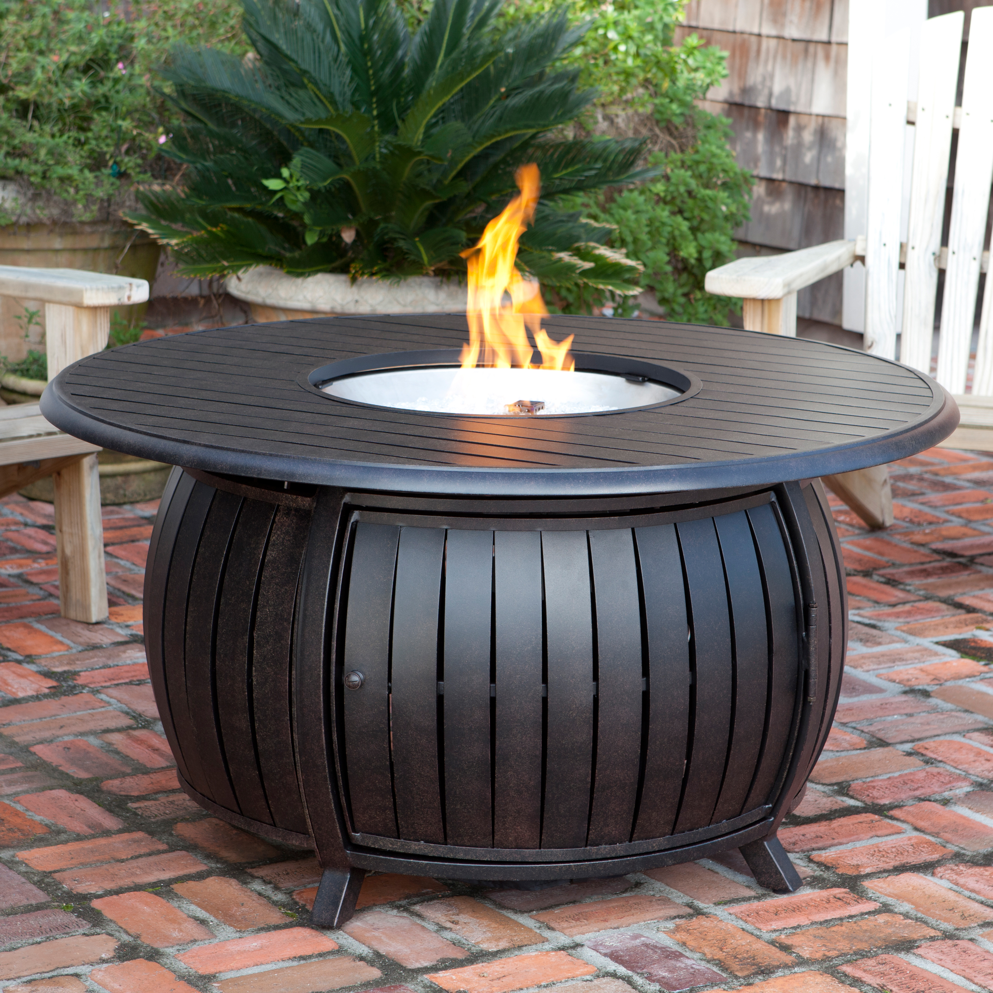 Fire Sense Round Fire Pit Table With Cover Fire Pits At