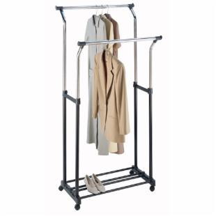 Whitmor 2-Tier Adjustable Garment Rolling Rack