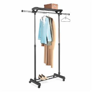 Whitmor Supreme Garment Rack with Top Shelf