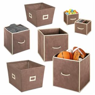 Whitmor Polypro Fabric Collapsible Cubes-Set of 7