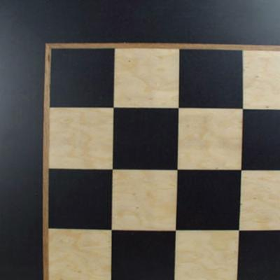  Black and Madrona Burl Chess Board